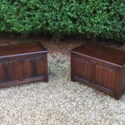 RARE-PAIR-OF-OLD-CHARM-STYLE-OAK-RUG-TOY-CHESTSBLANKET-BOXESCOFFEE-TABLES-302263233627-9