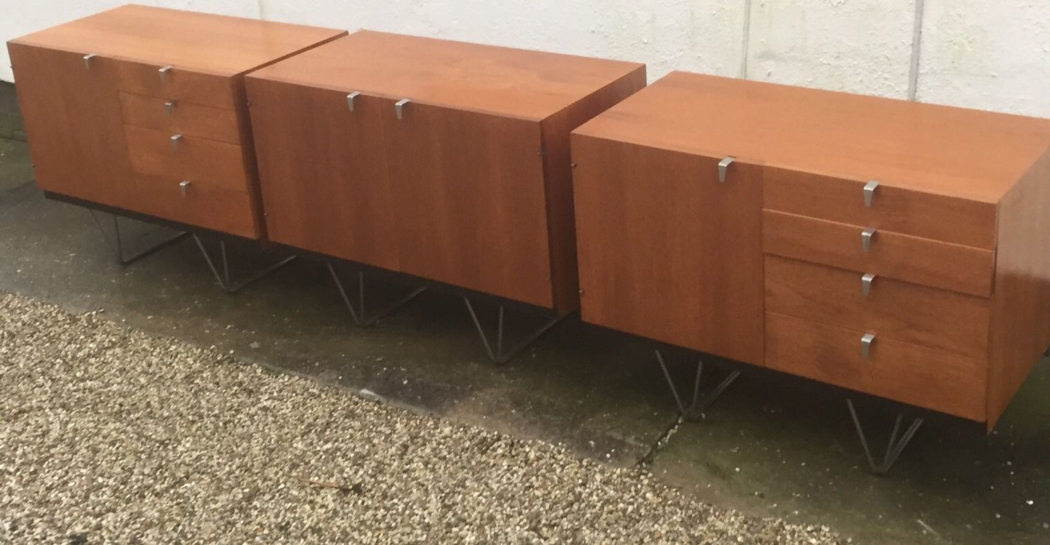Rare Set Of Stag John Sylvia Reid Sideboards Sold By Heals Fab Condition