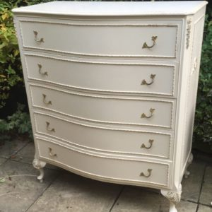 SUPERB-FRENCH-STYLE-SHABBY-CHIC-BOWFRONT-CHEST-OF-DRAWERS-292085963027
