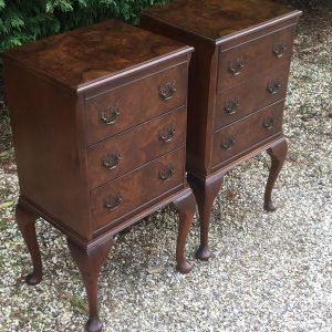 SUPERB-PAIR-OF-ART-DECO-WALNUT-BEDSIDE-CHESTS-VERY-CLEAN-SELDOM-SEEN-292072722428