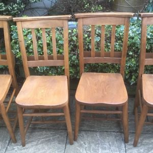 SUPERB-RARE-SET-OF4-VINTAGE-CHAPELKITCHEN-DINING-CHAIRS-292075211159