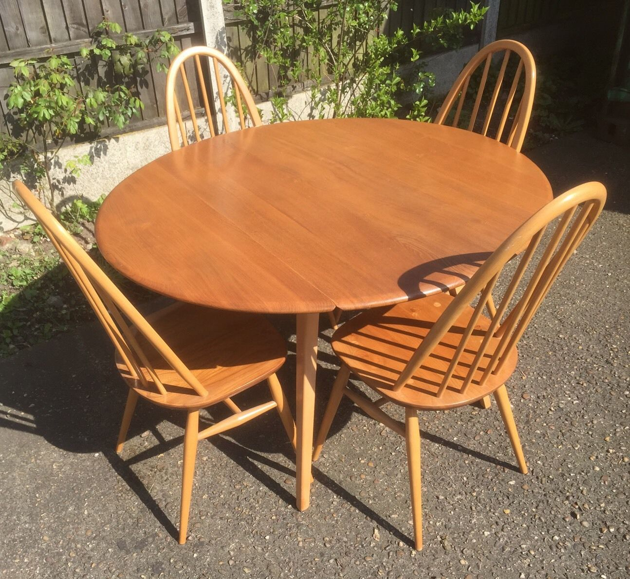 Superb retro ercol extending dining table 4 matching chairs superb retro ercol extending dining table 4 matching watchthetrailerfo