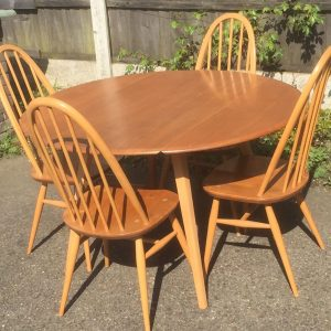 SUPERB-RETRO-ERCOL-EXTENDING-DINING-TABLE-4-MATCHING-CHAIRS-DELIVERY-AVAILABLE-292075612283