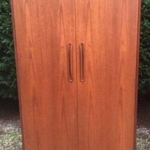 SUPERB-RETRO-TEAK-G-PLAN-2-DOOR-WARDROBE-CLEAN-CONDITION-MATCHING-ROBE-LISTED-302285552512