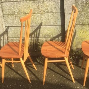 SUPERB-SET-OF-4-RETRO-ERCOL-MULTI-PURPOSE-DINING-CHAIRS-VERY-CLEAN-CONDITION-292086702233