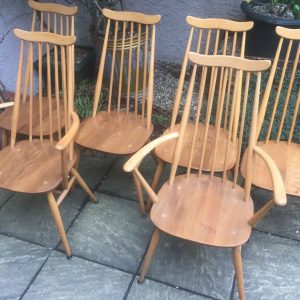 SUPERB-SET-OF-6-RETRO-ERCOL-GOLDSMITH-DINING-CHAIRS-MINT-CONDITION-292093814853