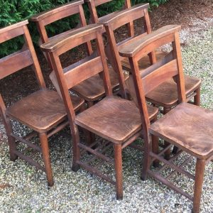 SUPERB-SET-OF-6-VINTAGE-CHAPELKITCHEN-DINING-CHAIRS-32-AVAILABLE-292082237269
