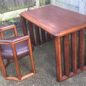VERY-RARE-ARTS-CRAFTS-MCKINTOSH-STYLE-WRITING-TABLEDESK-MATCHING-CHAIR-291665481374
