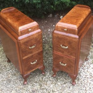 VERY-RARE-PAIR-OF-ART-DECO-WALNUT-BEDSIDE-CABINETSCHESTS-VERY-CLEAN-SELDOM-SEEN-302240870662
